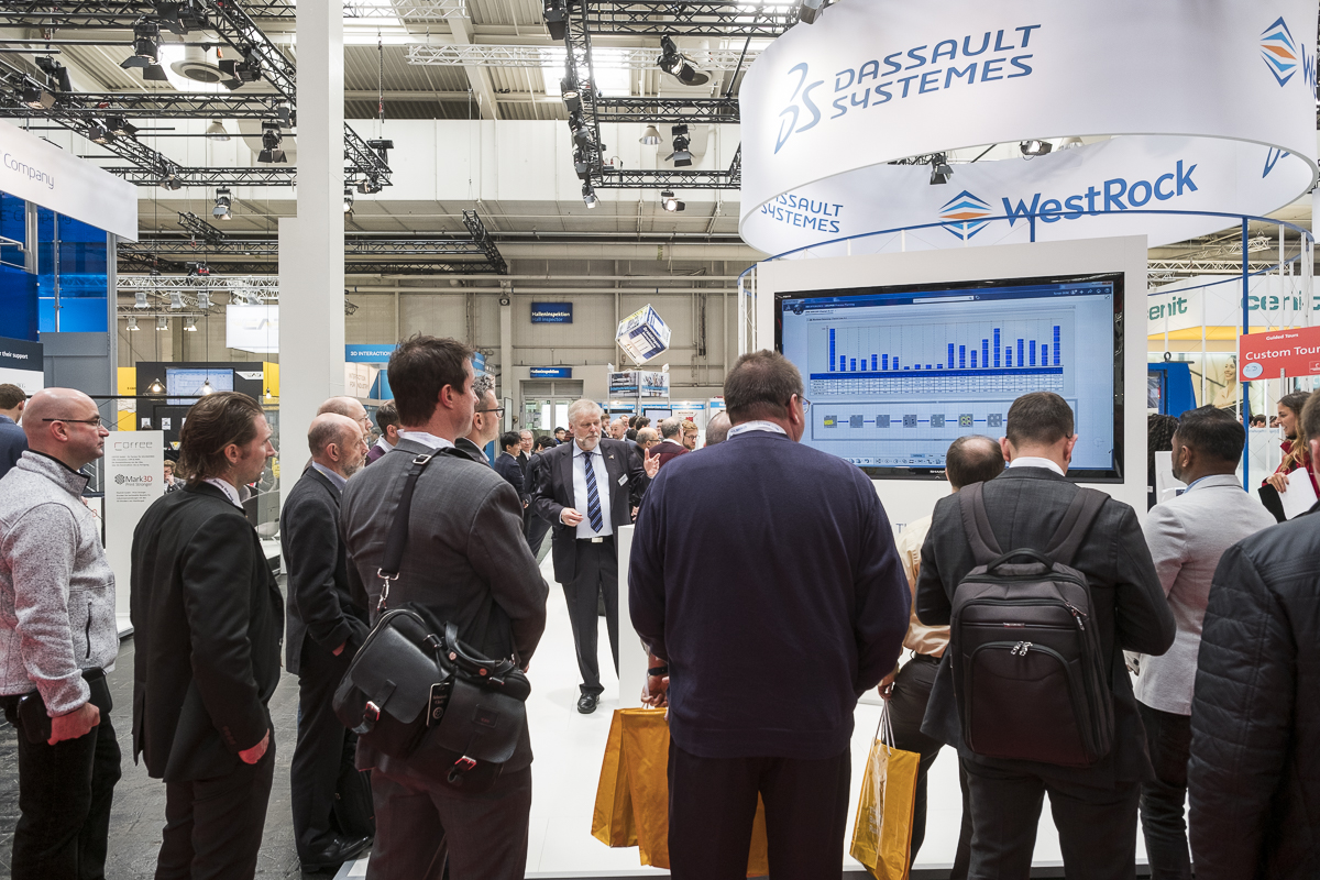 Visitors from Dassault Systèmes at the Hannover Fair 2017