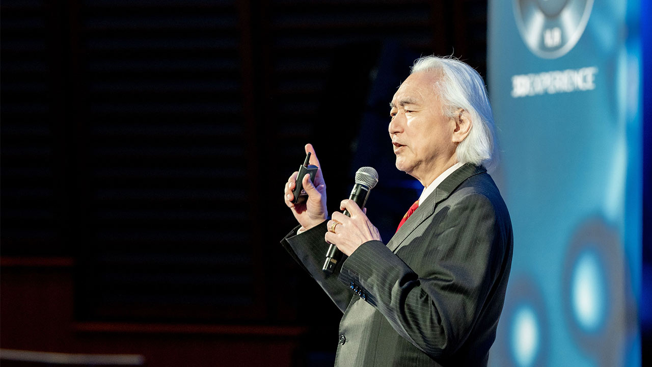 Science in the Age of Experience 2019 - Michio Kaku presenting > Image > Dassault Systèmes®